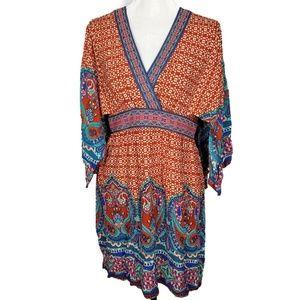 Flying Tomato Boho Kimono Style Dress Size Large